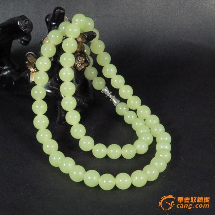 【联盟】新疆和田玉 山料 黄玉精工圆珠项链  单颗直径8毫米