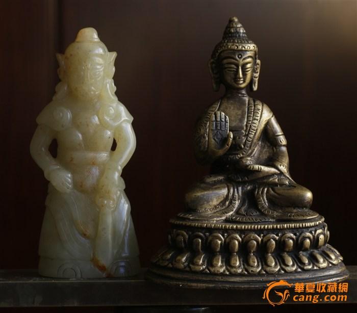 仿古 议价交易 唐到明 和田白玉  玉雕韦陀神像 随身携带护佑像