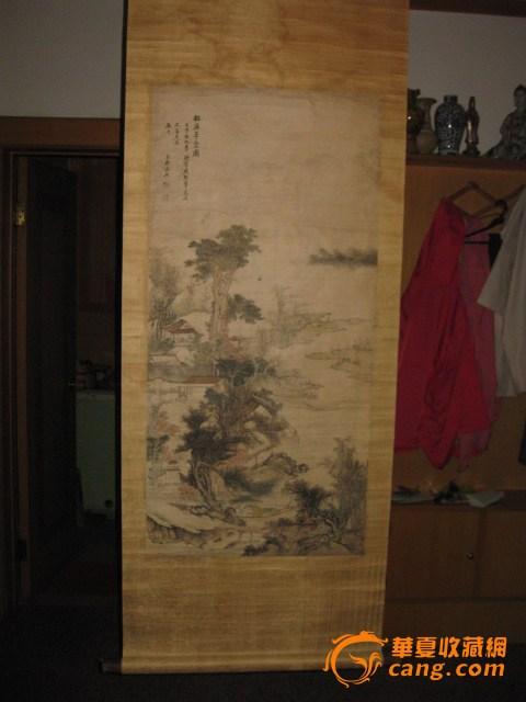 老画。松溪草堂图。清,吴宏作品。
