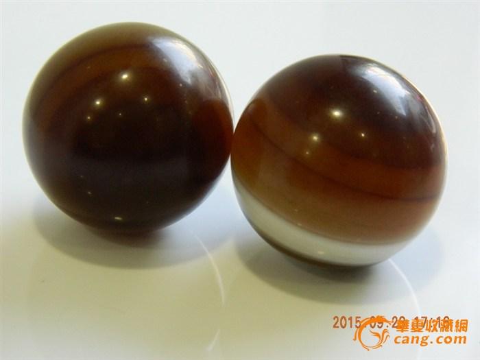 一对漂亮的手球天然球(健玛瑙)_拍卖在线_在线跳伞号图片