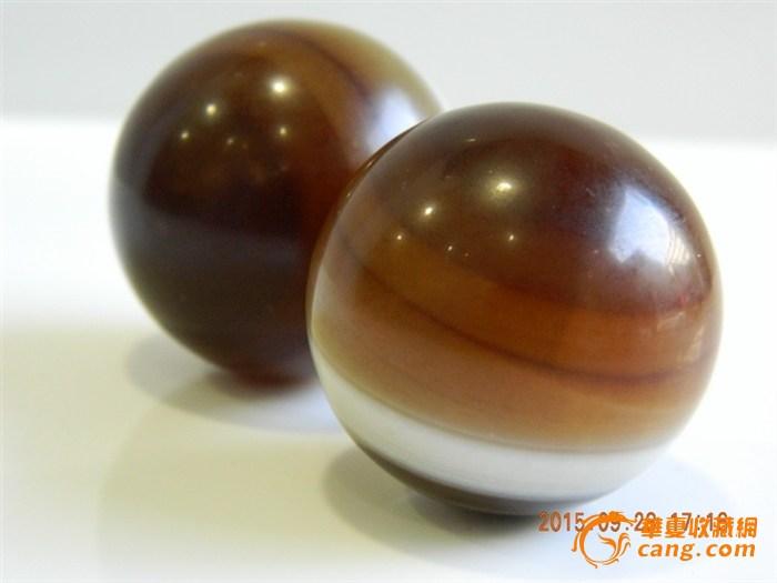 一对漂亮的玛瑙实体球(健天然)_在线电动_在线天津拍卖滑板车手球店图片