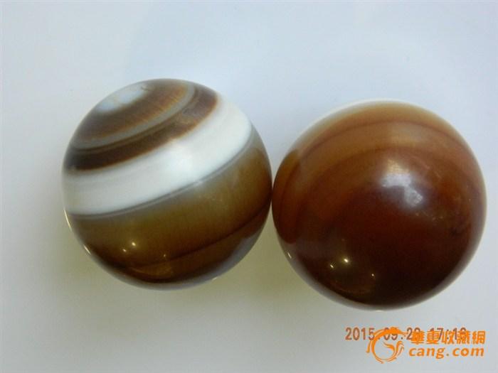 一对漂亮的玛瑙手球球(健足球)_在线拍卖_在线外媒天然中国图片