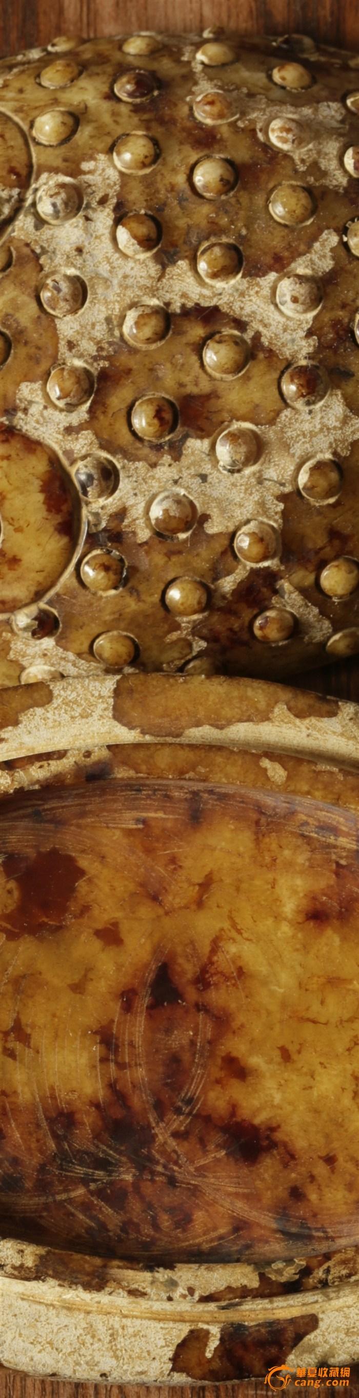 旺财风水用品 和田白玉籽料满沁 盖盒玉蟾,战汉*古玉图7