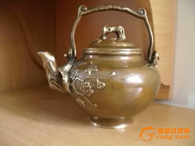 工艺师缠枝花纹铜壶