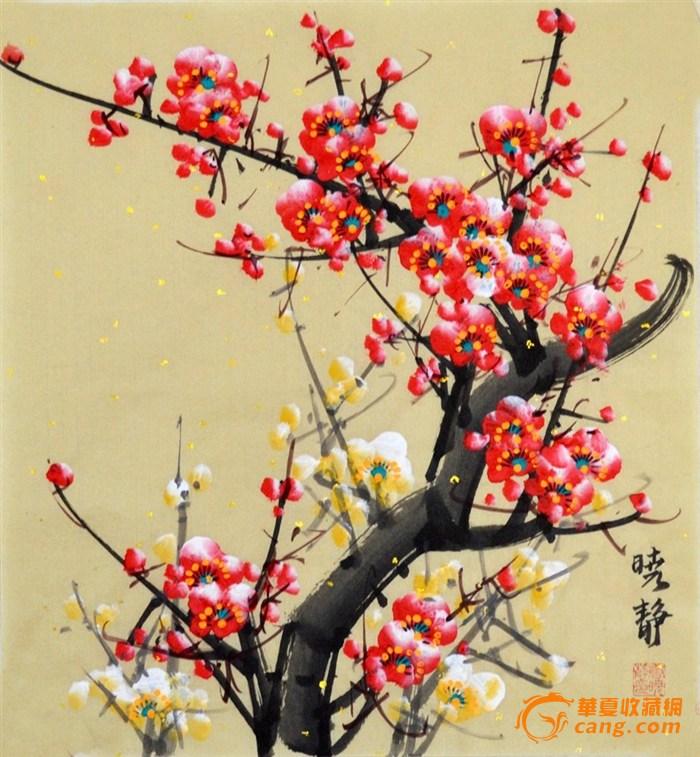 梅花手绘图片法