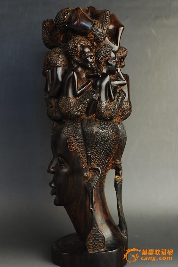 木雕 非洲黑檀人物摆件_在线拍卖_在线拍卖网_艺术品