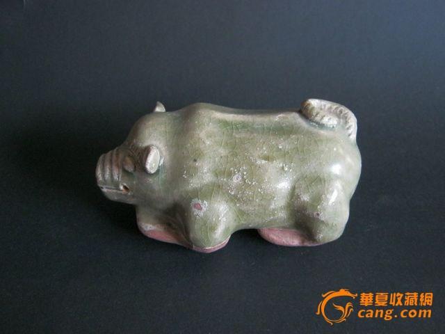 青瓷财富猪文房水滴
