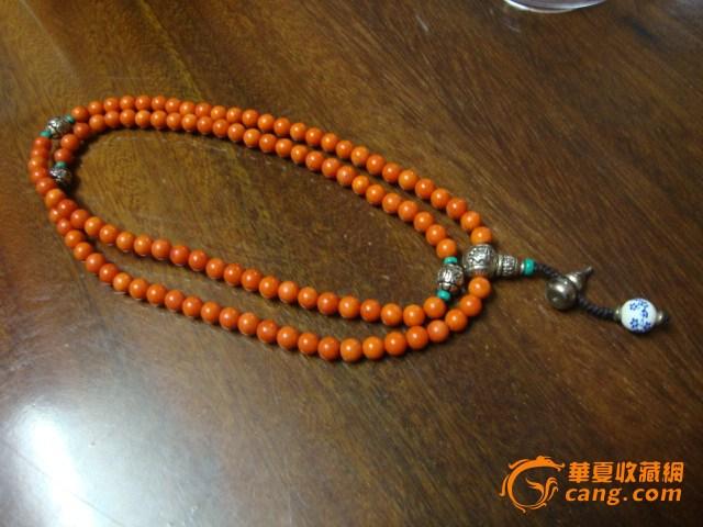 藏式红珊瑚108佛珠