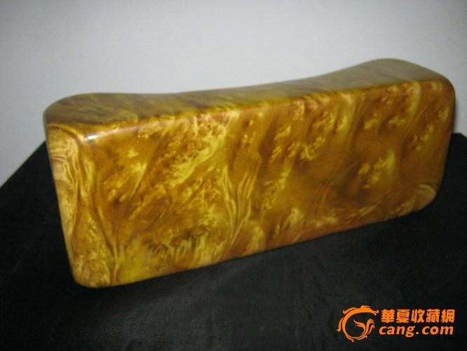 电纹金丝楠木枕头