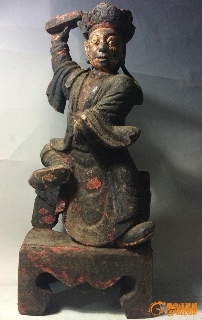 明代木雕道教神仙一个