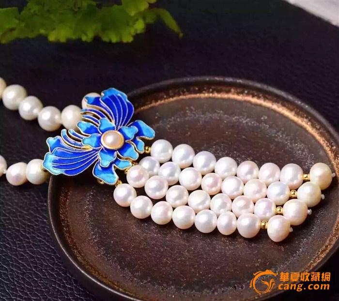 天然珍珠毛衣链