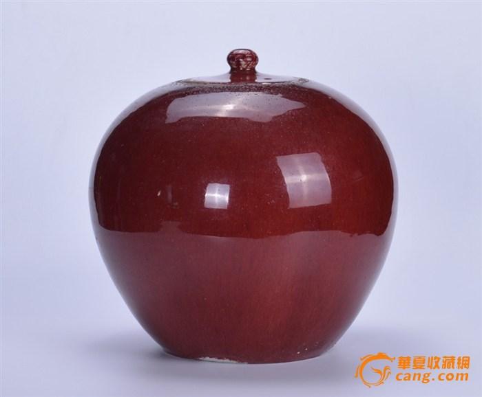 清 郎窑红盖罐图1