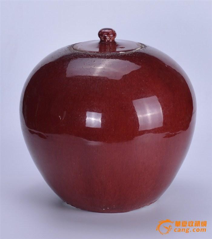 清 郎窑红盖罐图2