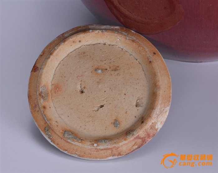 清 郎窑红盖罐图6