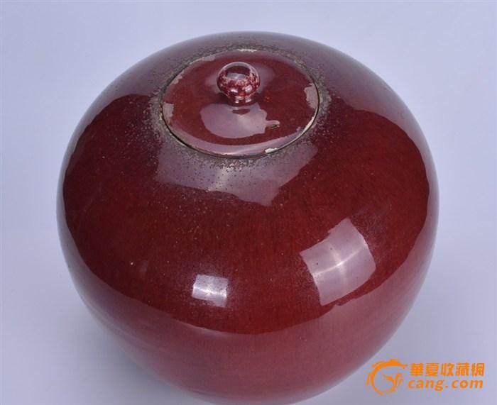 清 郎窑红盖罐图3