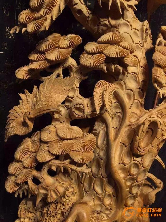 与松树一起寓意松鹤延年.崖柏实料镂空设计 精雕细琢 造型独特.