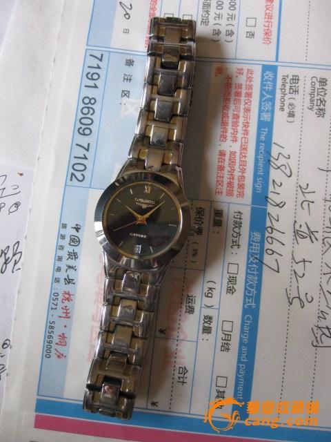 老手表。女士坤表。浪琴石英表。跑得很准