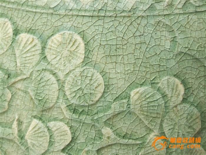 瓷器明代龙泉窑青瓷刻麒麟纹鼓形蹲传世