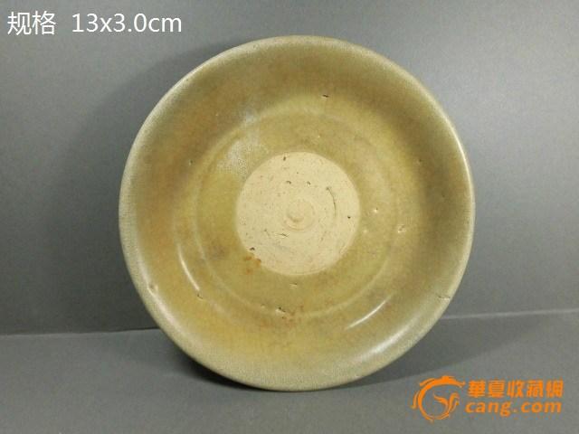 【联盟】老瓷器 鳝鱼黄釉小碟