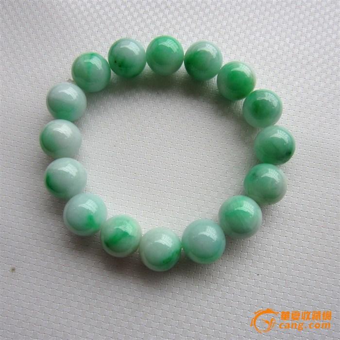 阳绿翡翠圆珠手串
