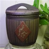 紫砂茶叶罐【小木桶】