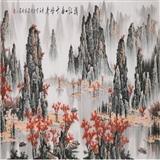 名家白雪石风格国画桂林漓江山水手绘小八尺