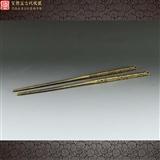 【名称】清代好工老铜制香具文房筷子