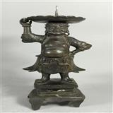 十七世纪精品胡人铜烛台