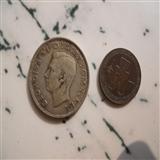 银币  铜币各一枚