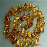 天然琥珀项链H4 编号953523