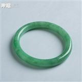 【经典】满翠绿翡翠圆条手镯(53mm)-6FC04