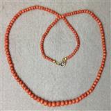 20.7克重天然老沙丁红珊瑚项链