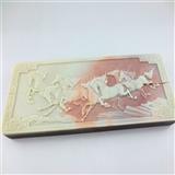 紫袍玉八骏图镇纸