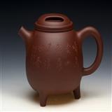 宜兴紫砂壶  牛盖石瓢