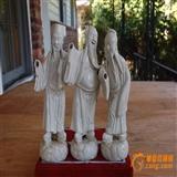 晚清民国堆塑八仙人物塑像一组三个