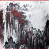 中国当代著名山水画家,国家一级美术师广西书画研究会副会长林亭宇大丈二山水