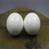 【保真天然白砗磲珠子文玩配珠通货14mm】编号6900