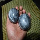 483克--新疆青花玉【健身球】把件--一对