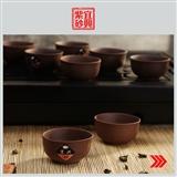 宜兴陶艺/宜兴紫砂壶/老紫砂/收藏/90年代外单紫砂小杯—8个