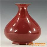 清道光(官)祭红釉玉壶春瓶