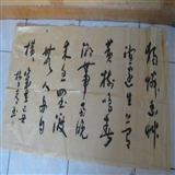 中国画家协会会员淮河书画艺术研究院院长楼日青书法