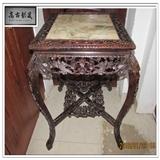 【精品家具】大红酸枝十三行风格满雕喜鹊登梅方桌