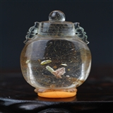 天然 水晶宝瓶