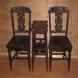 一套全花梨雕花椅子