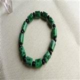 满绿桶珠翡翠A货手链