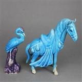 民国-飞马仙鹤雕塑
