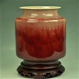 漂亮清光绪豇豆红釉大瓶