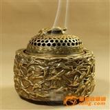 千龟鹤纯铜熏香炉