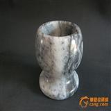 天然玉石文房笔洗(重近3斤1310克)
