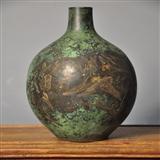 回流铜花瓶